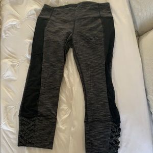 Athleta Mesh crop bottoms